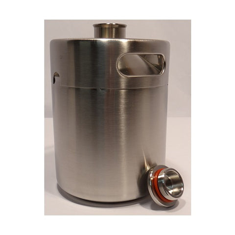 Mini Keg Growler, Stainless Steel