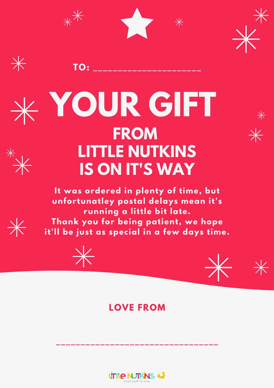 Little Nutkins Gift IOU