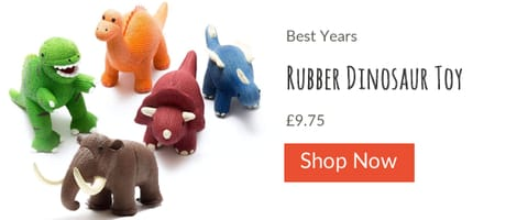 Best Years Natural Rubber Dinosaurs from Little Nutkins