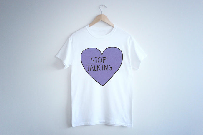 CAMISETA stop talking