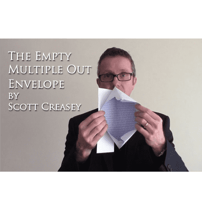 The Empty Multiple Out Envelope by Scott Creasey - Video DOWNLOAD - Diamond's Magic
