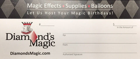Gift Certificate - Diamond's Magic