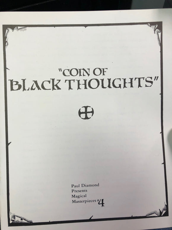 COIN OF BLACK THOUGHTS by Paul Diamond