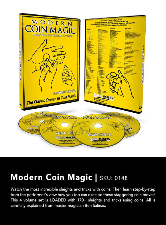 MODERN COIN MAGIC -SET OF 4 DVDs