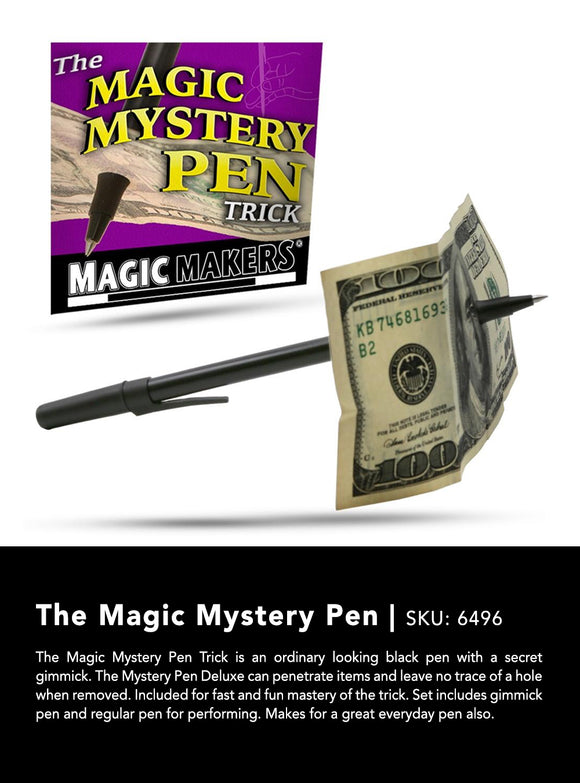 Magic Mystery Pen (aka Pen Thru Bill) by Magic Makers