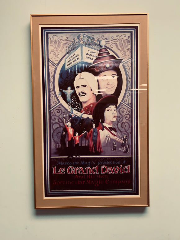 Rare original Le Grand David Color poster framed!