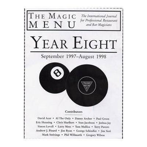 Year 8 : The Magic Menu - Diamond's Magic