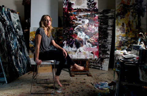 Cori Creed in her Studio