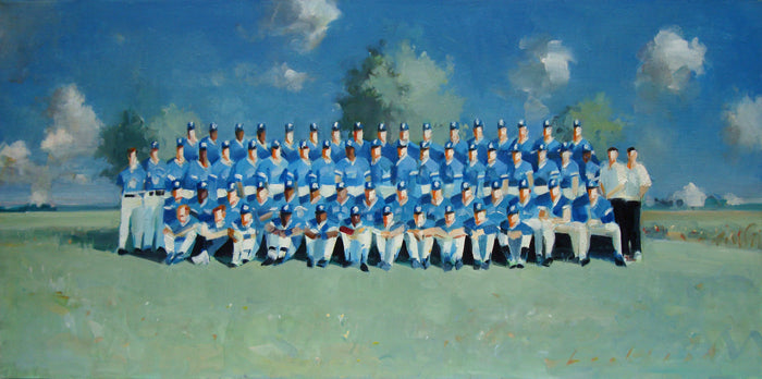 Blue Jays artwork by Kenneth Lochhead presented by Bau-Xi Gallery