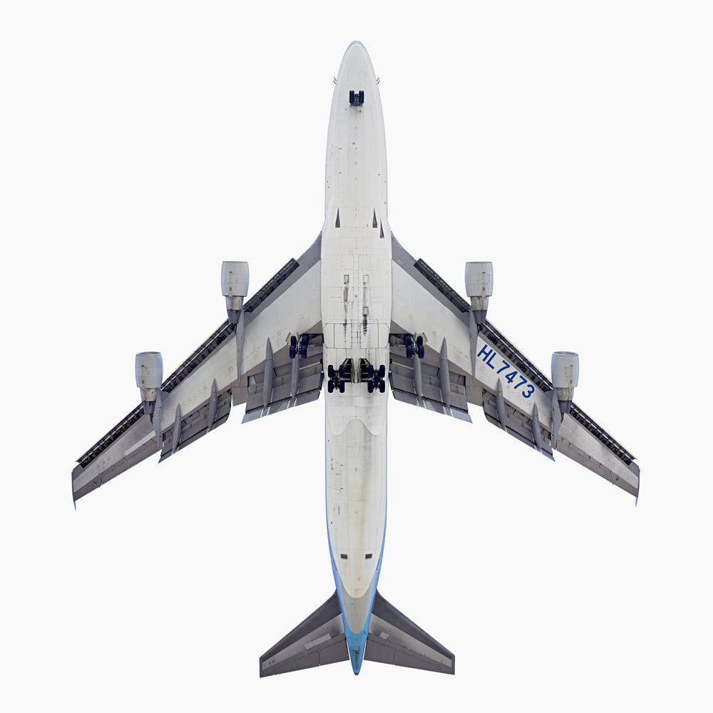 Jeffrey Milstein - Korean Air Boeing 747-400 - Available in 5 sizes, Archival Inkjet Print Mounted on Archival Substrate, Framed in White with Plexiglass,  - Bau-Xi Gallery