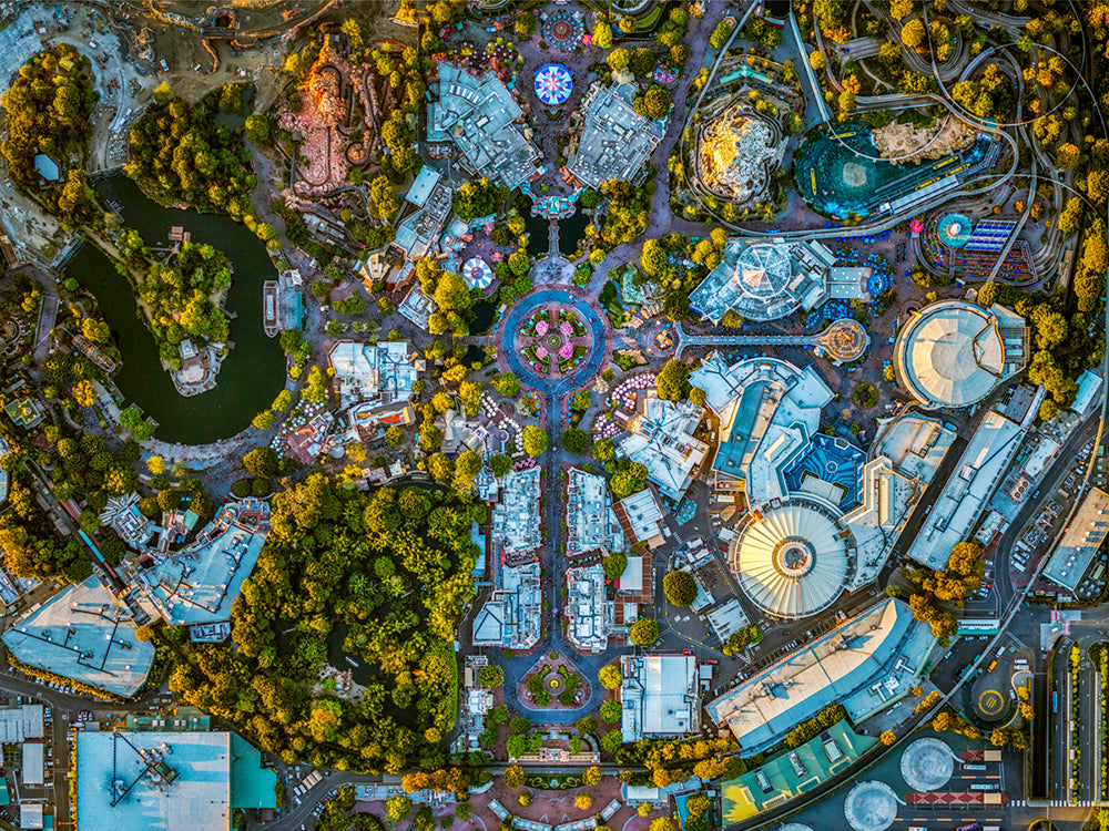 Jeffrey Milstein - Disneyland 01 - Available in 6 sizes, Archival Inkjet Print Mounted on Archival Substrate, Framed in White with Plexiglass,  - Bau-Xi Gallery