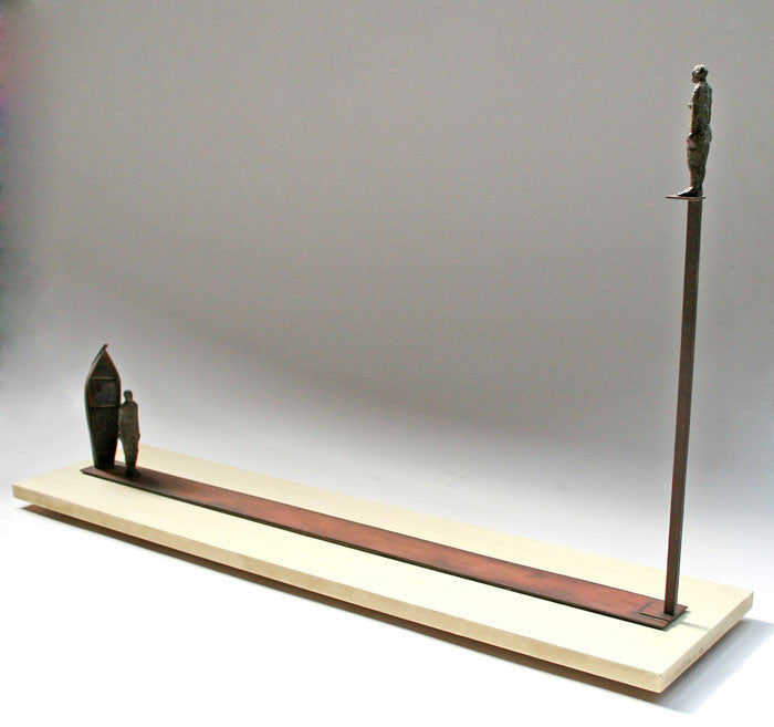 Ted Fullerton - Here, There (Idea for a Monument), Bronze, brass, Wood, Free Standing,  - Bau-Xi Gallery