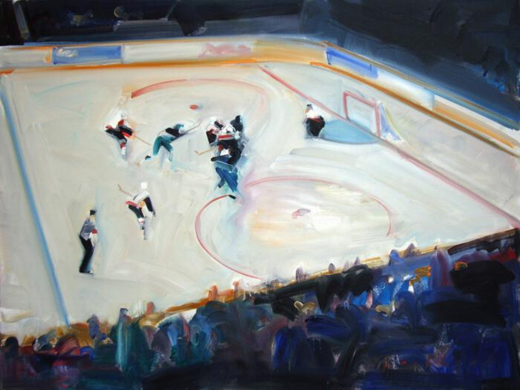Ken Lochhead - Slap Shot, Oil on Canvas, Unframed,  - Bau-Xi Gallery