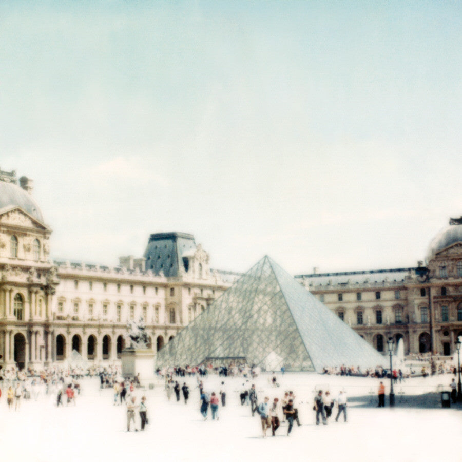 Joshua Jensen-Nagle - Louvre, Entrance To It All, Archival Inkjet Print Face-Mounted to Plexiglass, Back-Mounted to Aluminum Subframe,  - Bau-Xi Gallery