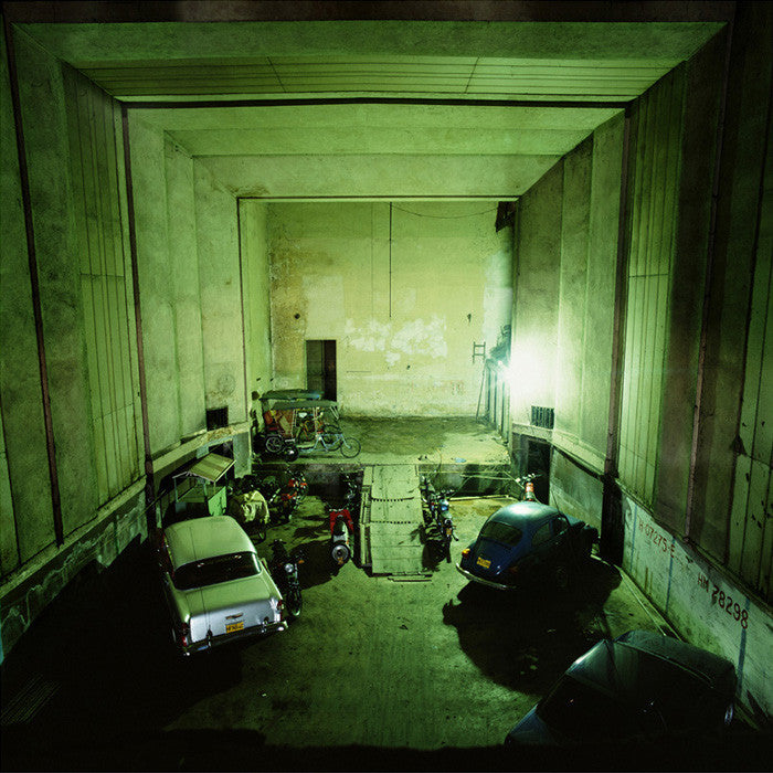 Dan Dubowitz - Cinema, Habana, from Wastelands - 30x30 in. - $3,900, Archival Pigment Print Mounted on Archival Substrate, Framed in White with Plexiglass,  - Bau-Xi Gallery