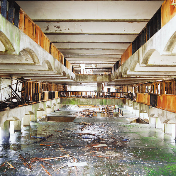 Dan Dubowitz - Refectory, Cardross, from Wastelands - 30x30 in. - $3,900, Archival Pigment Print Mounted on Archival Substrate, Framed in White with Plexiglass,  - Bau-Xi Gallery