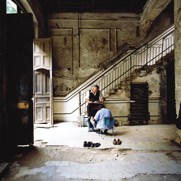 Dan Dubowitz - Entrance Hall, Habana, from Wastelands - 30x30 in. - $3,900, Archival Pigment Print Mounted on Archival Substrate, Framed in White with Plexiglass,  - Bau-Xi Gallery