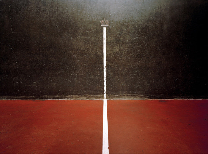 Elliott Wilcox - Real Tennis 02 - 3 sizes, $2,600-$10,000, Chromogenic Print Mounted to Archival Substrate, Framed in White with Non-Reflective Plexiglass,  - Bau-Xi Gallery