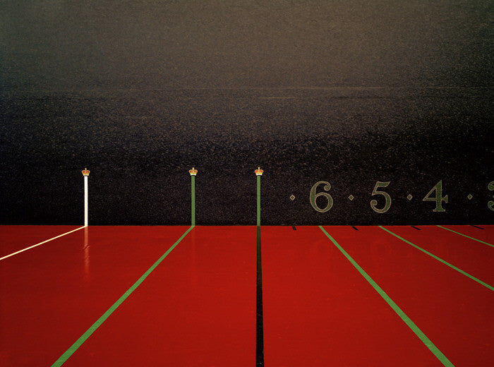 Elliott Wilcox - Real Tennis 09, Chromogenic Print Mounted to Archival Substrate, Framed in White with Non-Reflective Plexiglass,  - Bau-Xi Gallery
