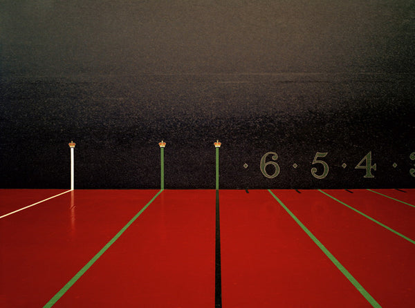 Elliott Wilcox - Real Tennis 09 - 3 sizes, $2,600-$10,000, Chromogenic Print Mounted to Archival Substrate, Framed in White with Non-Reflective Plexiglass,  - Bau-Xi Gallery