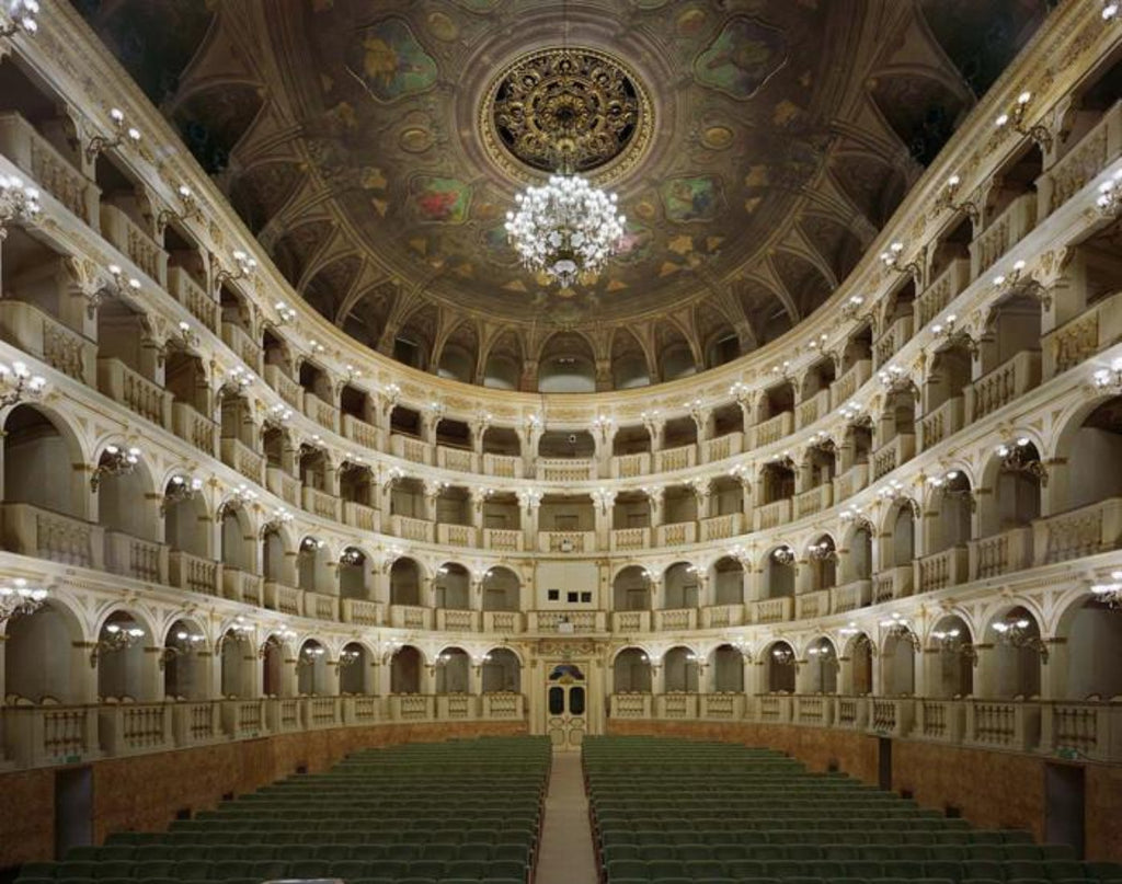 David Leventi - Teatro Comunale di Bologna, Bologna, Italy, Fujicolor Crystal Archive Print Mounted on Archival Substrate, Framed in White with Plexiglass,  - Bau-Xi Gallery