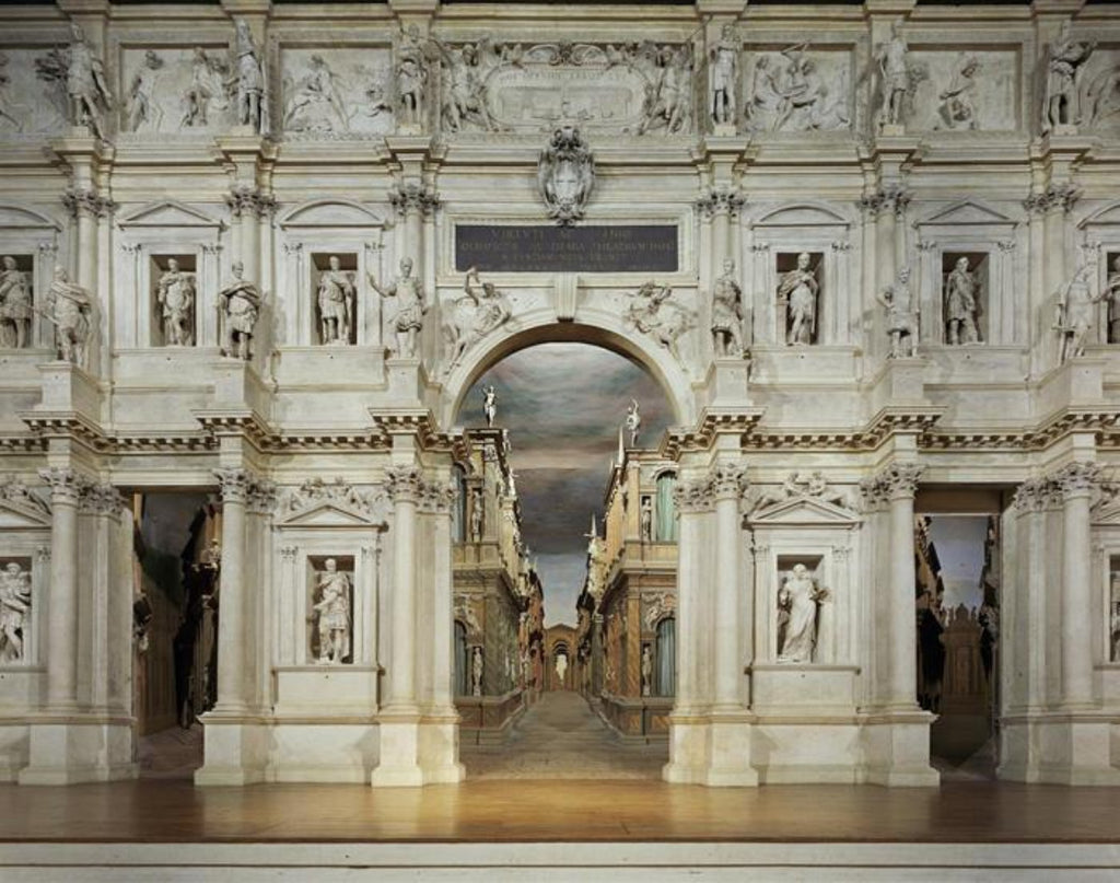 David Leventi - Teatro Olimpico, Vicenza, Italy, Fujicolor Crystal Archive Print Mounted on Archival Substrate, Framed in White with Plexiglass,  - Bau-Xi Gallery