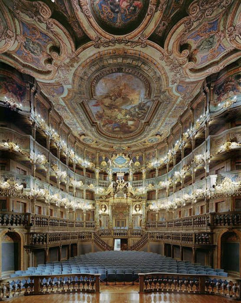 David Leventi - Margravial Opera House, Bayreuth, Germany, Fujicolor Crystal Archive Print Mounted on Archival Substrate, Framed in White with Plexiglass,  - Bau-Xi Gallery