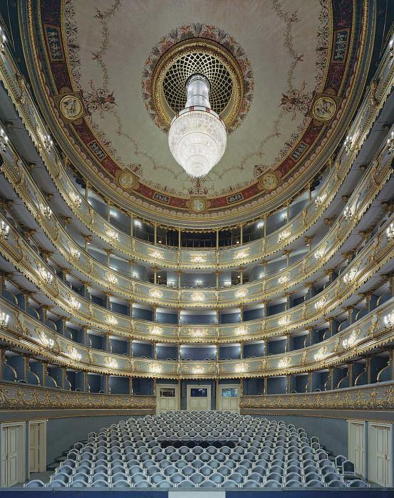 David Leventi - Estates Theatre, Prague, Czech Republic - 3 sizes, $11,450-$33,950, Fujicolor Crystal Archive Print Mounted on Archival Substrate, Framed in White with Plexiglass,  - Bau-Xi Gallery