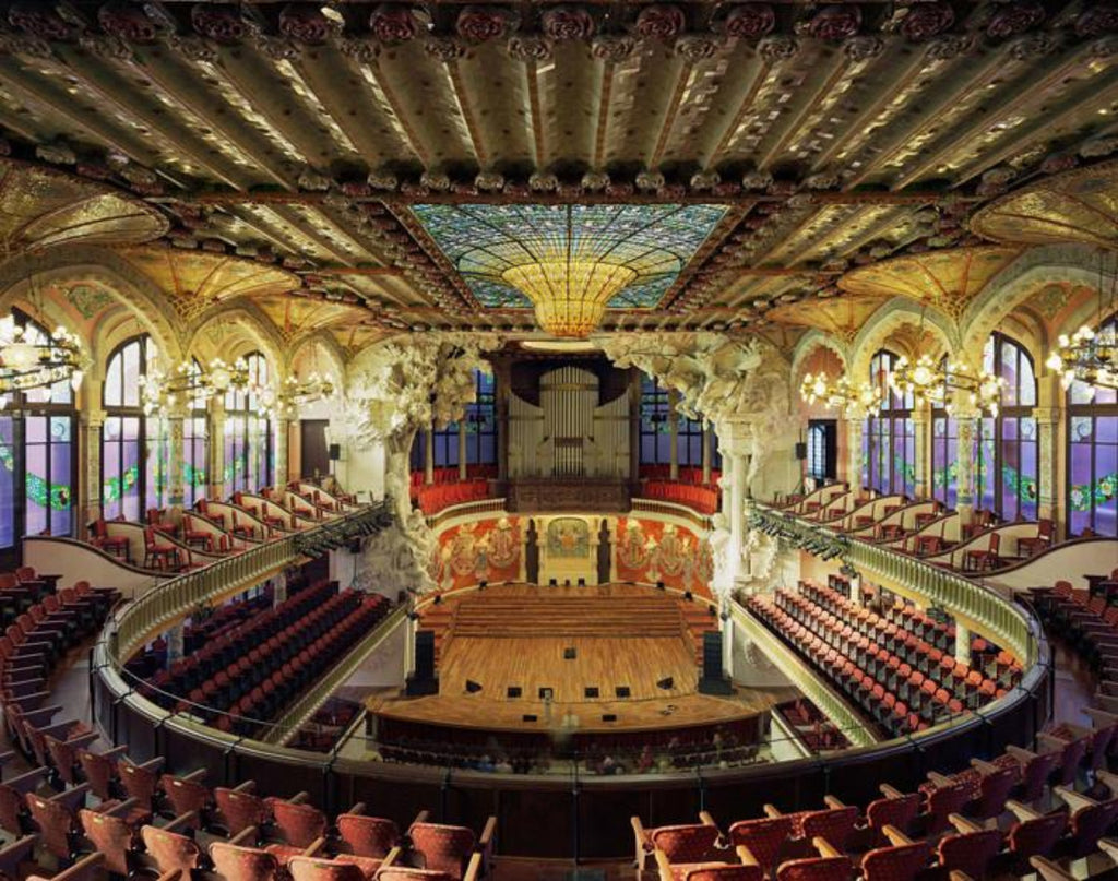 David Leventi - Palau de la Música Catalana, Barcelona, Spain, Fujicolor Crystal Archive Print Mounted on Archival Substrate, Framed in White with Plexiglass,  - Bau-Xi Gallery