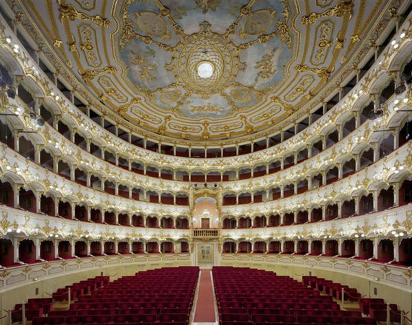 David Leventi - Teatro Municipale, Piacenza, Italy, Fujicolor Crystal Archive Print Mounted on Archival Substrate, Framed in White with Plexiglass,  - Bau-Xi Gallery
