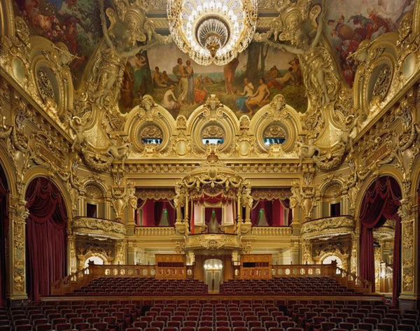 David Leventi - Opéra de Monte Carlo, Monte Carlo, Monaco - 3 sizes, $10,600-$31,500, Fujicolor Crystal Archive Print Mounted on Archival Substrate, Framed in White with Plexiglass,  - Bau-Xi Gallery