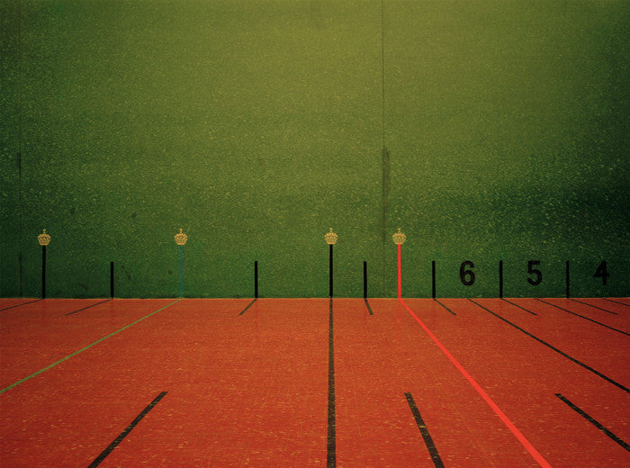 Elliott Wilcox - Real Tennis 01, Chromogenic Print Mounted to Archival Substrate, Framed in White with Non-Reflective Plexiglass,  - Bau-Xi Gallery