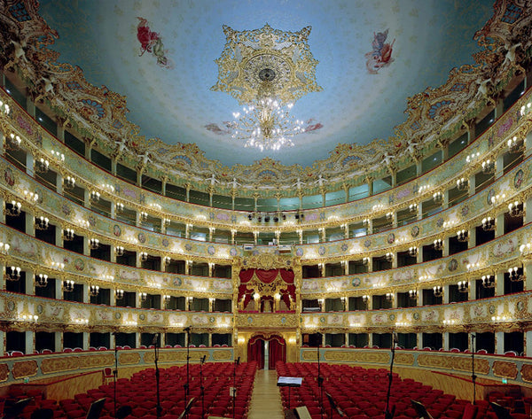 David Leventi - La Fenice, Venice, Italy, Fujicolor Crystal Archive Print Mounted on Archival Substrate, Framed in White with Plexiglass,  - Bau-Xi Gallery
