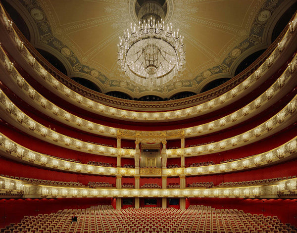 David Leventi - Bavarian State Opera, Munich, Germany, Fujicolor Crystal Archive Print Mounted on Archival Substrate, Framed in White with Plexiglass,  - Bau-Xi Gallery