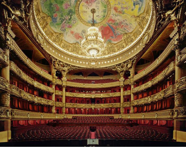 David Leventi - Palais Garnier, Paris, France, Fujicolor Crystal Archive Print Mounted on Archival Substrate, Framed in White with Plexiglass,  - Bau-Xi Gallery
