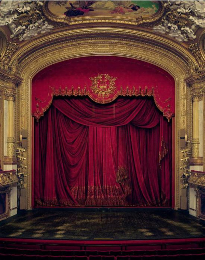 David Leventi - Curtain, Royal Swedish Opera, Stockholm, Sweden  - 3 sizes, $10,600-$31,500, Fujicolor Crystal Archive Print Mounted on Archival Substrate, Framed in White with Plexiglass,  - Bau-Xi Gallery