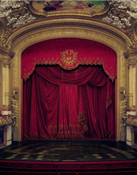 David Leventi - Curtain, Royal Swedish Opera, Stockholm, Sweden, Fujicolor Crystal Archive Print Mounted on Archival Substrate, Framed in White with Plexiglass,  - Bau-Xi Gallery