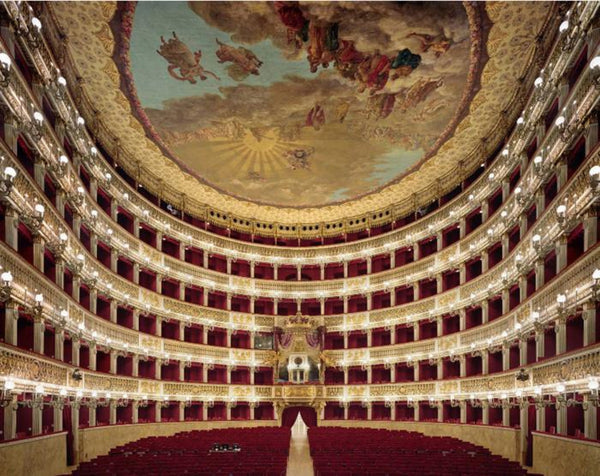 David Leventi - Teatro di San Carlo, Naples, Italy, Fujicolor Crystal Archive Print Mounted on Archival Substrate, Framed in White with Plexiglass,  - Bau-Xi Gallery