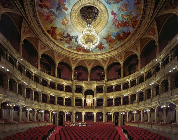 David Leventi - Hungarian State Opera House, Budapest, Hungary, Fujicolor Crystal Archive Print Mounted on Archival Substrate, Framed in White with Plexiglass,  - Bau-Xi Gallery