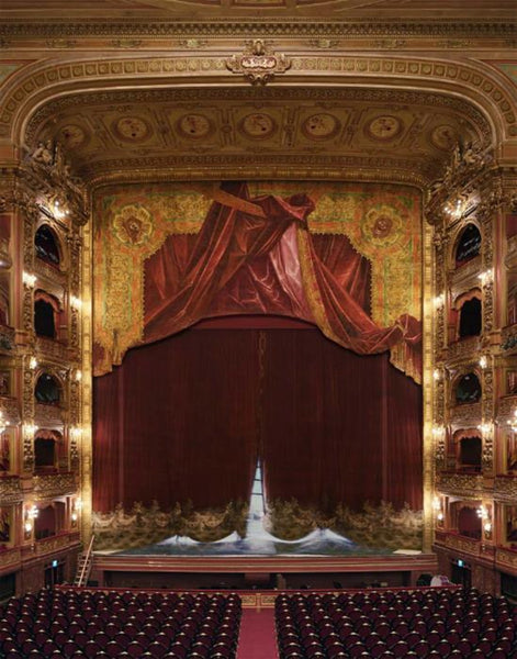 David Leventi - Curtain, Teatro Colon, Buenos Aires, Argentina, Fujicolor Crystal Archive Print Mounted on Archival Substrate, Framed in White with Plexiglass,  - Bau-Xi Gallery