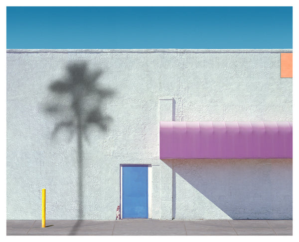 George Byrne - Pink Awning with Yellow, Archival Pigment Print on Archival Substrate,  - Bau-Xi Gallery
