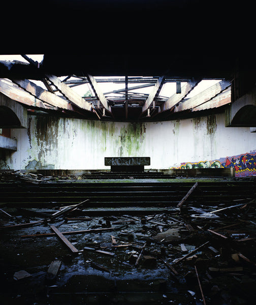 Dan Dubowitz - Altar, St. Peter's Seminary, Cardross, Scotland - 30x25 in. - $3,900, Archival Pigment Print Mounted on Archival Substrate, Framed in White with Plexiglass,  - Bau-Xi Gallery