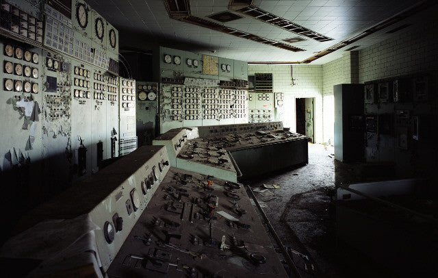 Dan Dubowitz - Control Room, Toronto Hearn - 36x53 in. - $8,500, Archival Pigment Print Mounted on Archival Substrate, Framed in White with Plexiglass,  - Bau-Xi Gallery