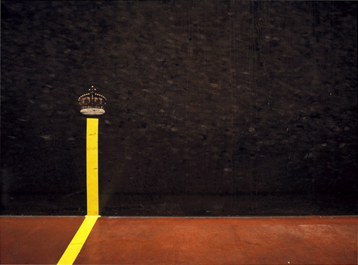 Elliott Wilcox - Real Tennis 16 - 3 sizes, $2,200-$9,600, Chromogenic Print Mounted to Archival Substrate, Framed in White with Non-Reflective Plexiglass,  - Bau-Xi Gallery