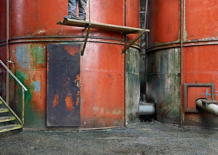 Anthony Redpath - Red Stacks - 51x72 in. - $12,150, Chromogenic Print Mounted to Archival Substrate, Framed in Black,  - Bau-Xi Gallery