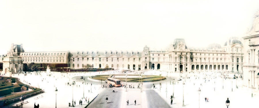 Joshua Jensen-Nagle - Simple Days, The Louvre - 2 sizes, $6,600-$11,000, Archival Inkjet Print Face-Mounted to Plexiglass, Back-Mounted to Aluminum Subframe,  - Bau-Xi Gallery