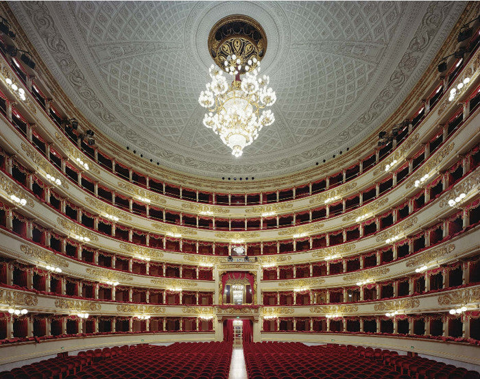 David Leventi - La Scala, Milan, Italy, Fujicolor Crystal Archive Print Mounted on Archival Substrate, Framed in White with Plexiglass,  - Bau-Xi Gallery