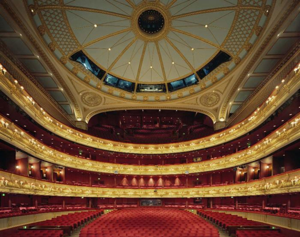 David Leventi - Royal Opera House, Covent Garden, London, Fujicolor Crystal Archive Print Mounted on Archival Substrate, Framed in White with Plexiglass,  - Bau-Xi Gallery