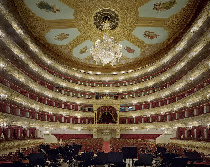 David Leventi - Bolshoi Theatre, Moscow, Russia, Fujicolor Crystal Archive Print Mounted on Archival Substrate, Framed in White with Plexiglass,  - Bau-Xi Gallery