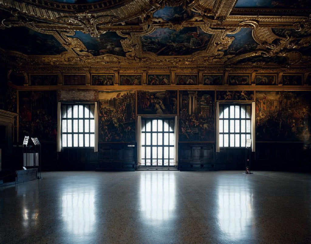David Leventi - Palazzo Ducale - 3 sizes, $11,450-$33,950, Fujicolor Crystal Archive Print Mounted on Archival Substrate, Framed in White with Plexiglass,  - Bau-Xi Gallery